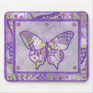 butterfly quilt mouse mat