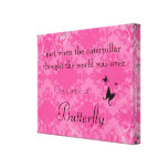 Butterfly Quote Canvas Print