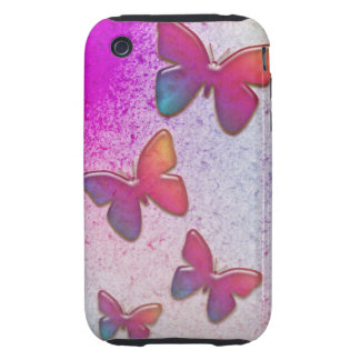 Butterfly Rainbow Tough iPhone 3 Cases