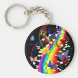 Butterfly Rainbow Key Chains
