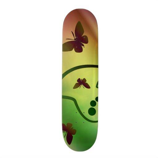 Butterfly Rainbows Custom Skate Board
