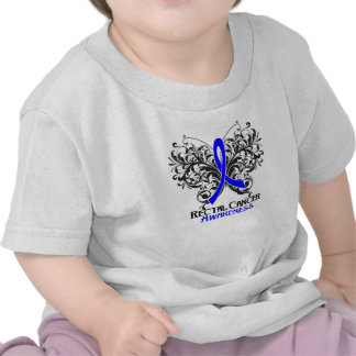 Butterfly Rectal Cancer Awareness T Shirt