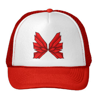 Butterfly Red I Cap