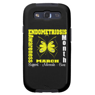 Butterfly Ribbon Endometriosis Awareness Month Galaxy SIII Cover