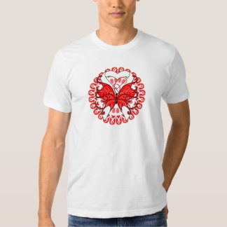 Butterfly Ribbon  Mesothelioma Awareness T-shirts