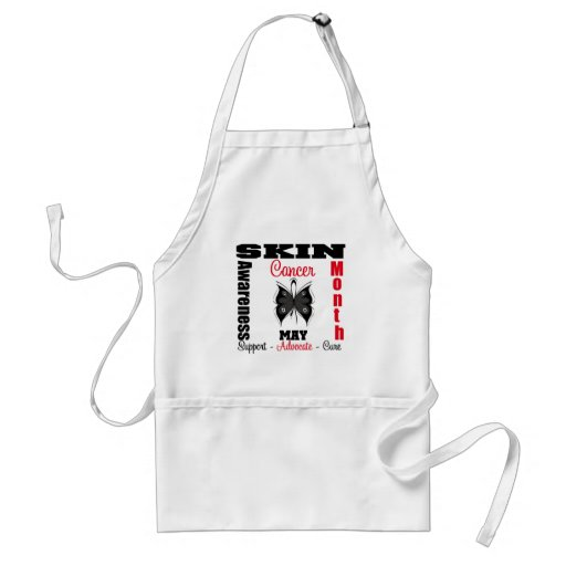 Butterfly Ribbon - Skin Cancer Awareness Month Aprons