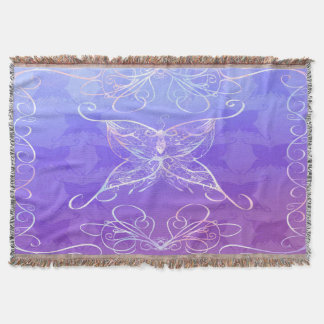 Butterfly Ribbon Throw Blanket