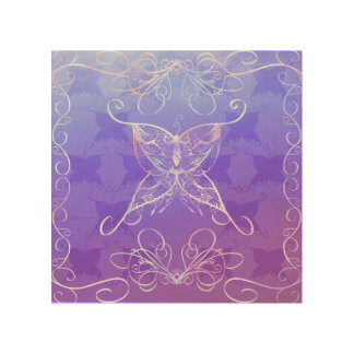 Butterfly Ribbon Wood Print