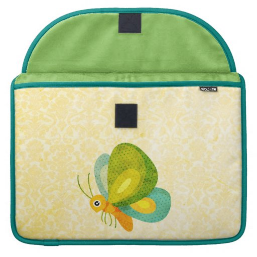 Butterfly Rickshaw Flap Sleeve MacBook Pro Sleeves