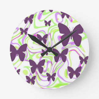 Butterfly Rising Wall Clock