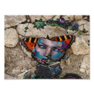 Butterfly Rock Photo Art