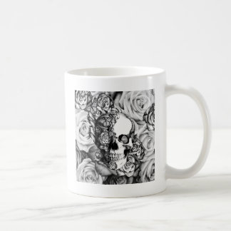 Butterfly rose skull with ladybugs. coffee mug
