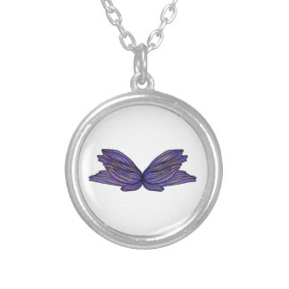Butterfly Round Pendant Necklace