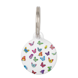 butterfly Round Small Pet Tag