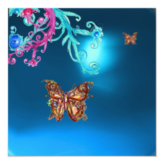 BUTTERFLY SAPPHIRE ,blue bright pink purple red Announcement