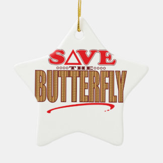 Butterfly Save Christmas Ornament