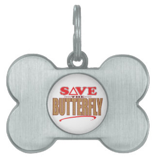 Butterfly Save Pet Name Tag