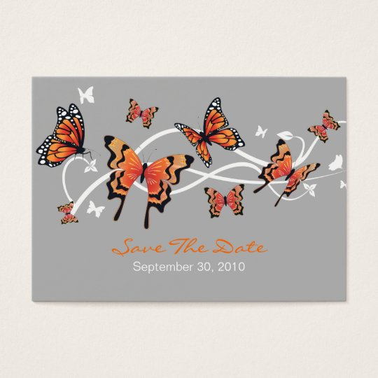 Butterfly Save The Date Wedding Custom MiniCard Business