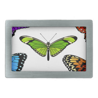 Butterfly Set Rectangular Belt Buckle