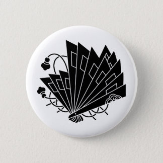 Butterfly-shaped fans (Hi-ohgi cho) 6 Cm Round Badge