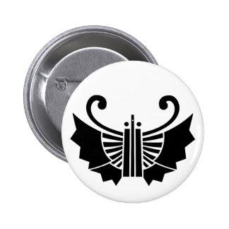 Butterfly-shaped fans (Ogi kocho) 6 Cm Round Badge