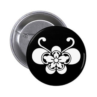 Butterfly-shaped goka 2 inch round button