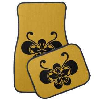 Butterfly-shaped goka car mat