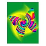 Butterfly Shaped Rainbow Twirl