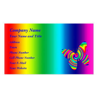 Butterfly Shaped Rainbow Twirl Business Cards