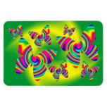 Butterfly Shaped Rainbow Twirl Vinyl Magnet