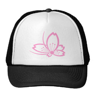 Butterfly-shaped shadowed Cherry blossom Cap