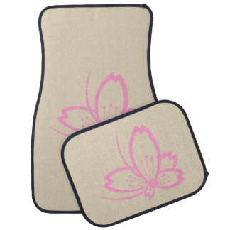 Butterfly-shaped shadowed Cherry blossom Car Mat