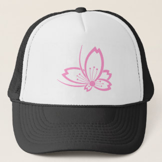 Butterfly-shaped shadowed Cherry blossom Trucker Hat