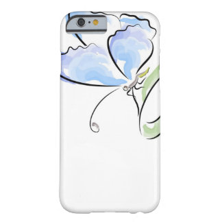 Butterfly sitting on grass over flower field barely there iPhone 6 case