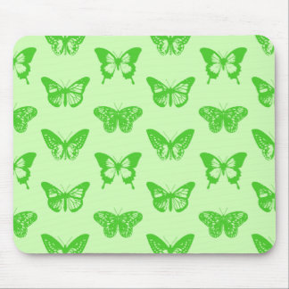 Butterfly sketch,  lime green mouse pads