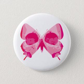 Butterfly Skull 6 Cm Round Badge