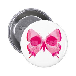 Butterfly Skull Pinback Button
