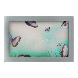 Butterfly sky original art design belt buckles
