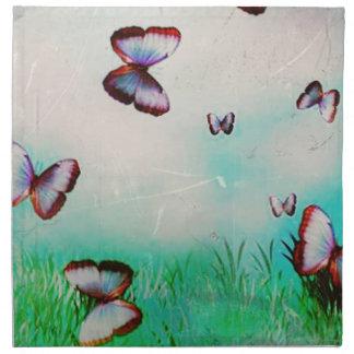 Butterfly sky original art design napkin