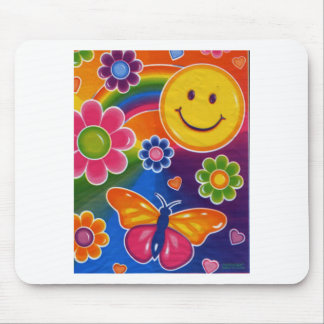 Butterfly Smiley Face Mouse Pad