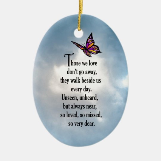 """Butterfly """"So Loved"""" Poem Christmas Ornament"""
