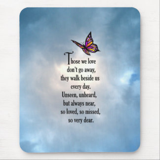 """Butterfly """"So Loved"""" Poem Mousepad"""