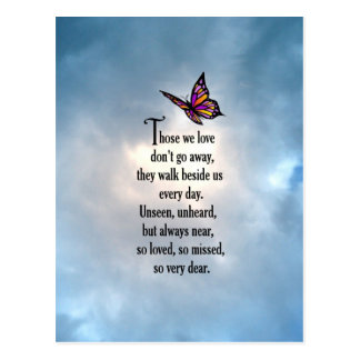 "Butterfly ""So Loved"" Poem Postcard"