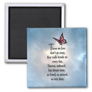 "Butterfly ""So Loved"" Poem Square Magnet"