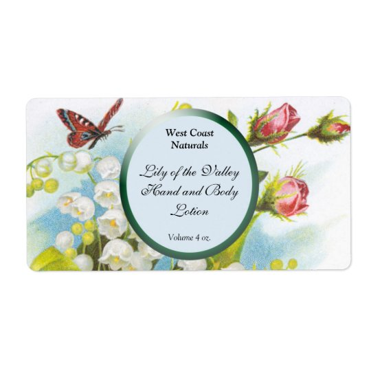 Butterfly Soap and Bath Products Label Template -