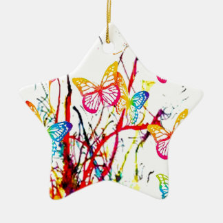 butterfly splash christmas ornament