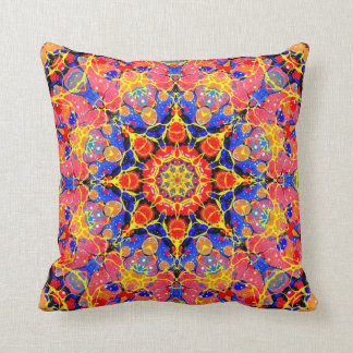Butterfly Splash Kaleidoscope pillow