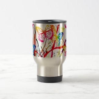 butterfly splash travel mug