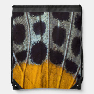 Butterfly spotted wing detail drawstring bag