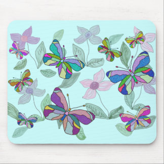Butterfly Spring Mouse Mat